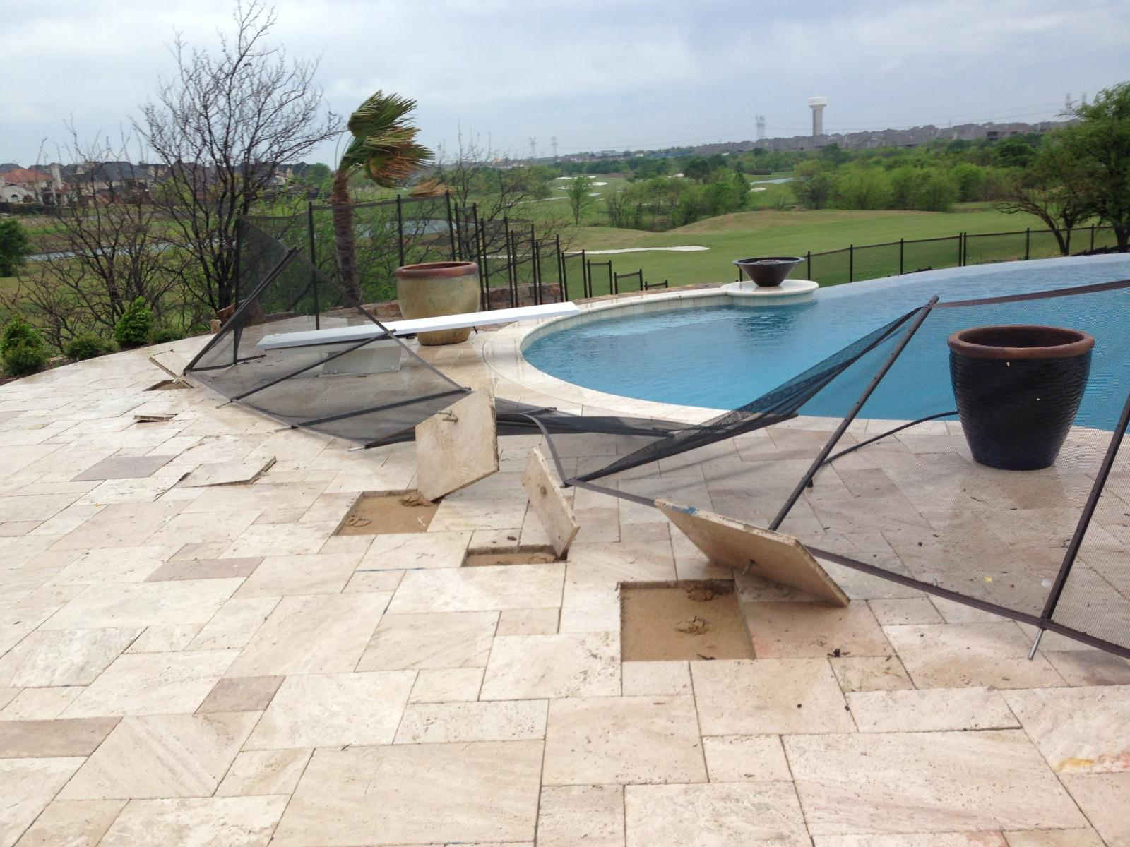 Poor do it yourself installations guardian pool fence systems the wrong way to install fencing in pavers solutioingenieria Images