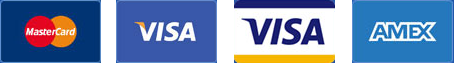 We accept Mastercard, Visa, Visa Debit and Amex